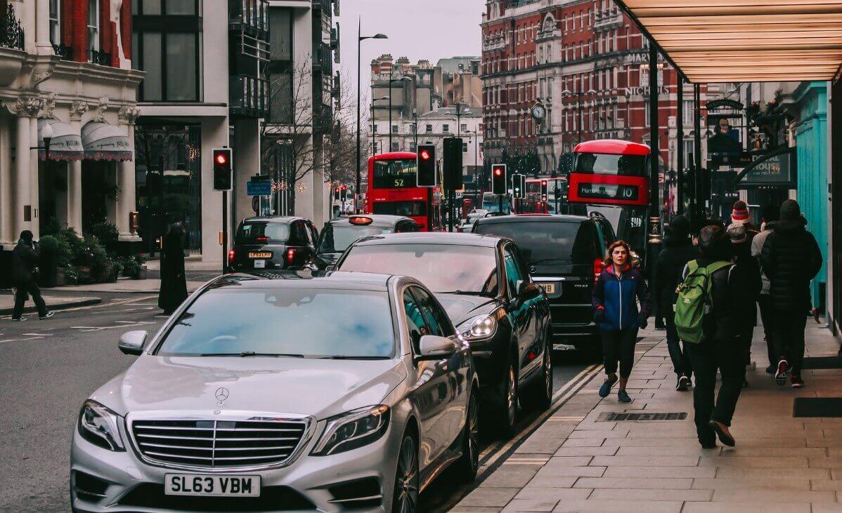 People on London street