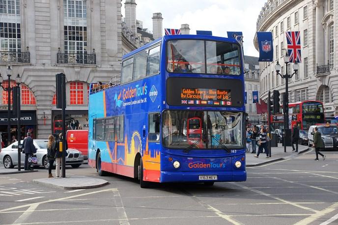 hop on hop off london Golden Tours Bus